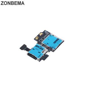 ZONBEMA 10pcs / lot micro SD Slot per scheda SIM supporto della fessura del lettore di Flex nuovo per Samsung i9505 Galaxy S4