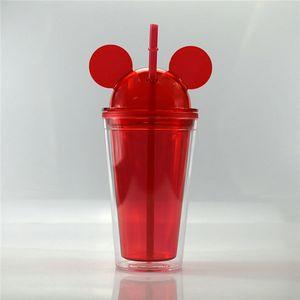 Acryl mur Acheter Cupgel Ood souris en plastique de paille en plastique acrylique Cupfreezer Double Cup Congélateur Straw Congélateur Gel 450ml yxlsW bdegarden
