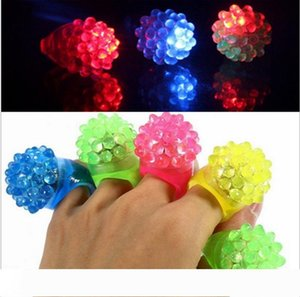 Flashing Bubble Ring Rave Party Blinking Soft Jelly Glow Hot Selling! Cool Led Light Up wen5083