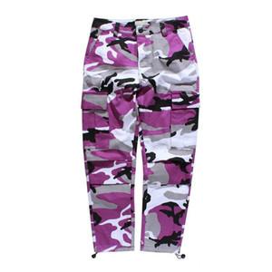 Camouflage Mens Cargo Pants Ganzkörper Frühling Multy Camo Hip Hop Hosen Männer Frauen Street Toursers Männer 8 Farben