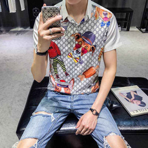 2020 Luxury Europe Paris patchwork men Tshirt Fashion Mens Designers T Shirt Casual Men Clothes medusa Cotton Tee luxury polo
