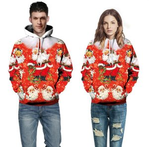 Long sleeve European and American 3D fashion trend 3D skull head pattern spring and autumn hooded couple's sweater