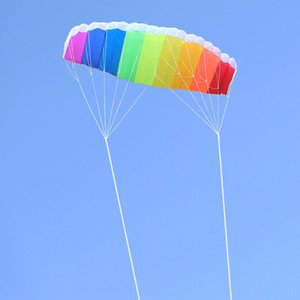 Weifang double-line rainbow umbrella tools software stunt kite send flying tool double-line umbrella kite