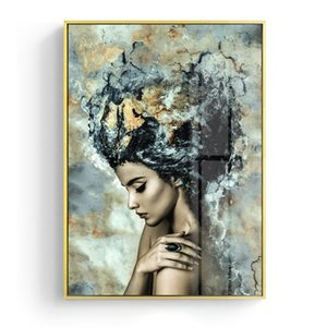 Modern Marble Girl Posters and Prints Wall Art Canvas Painting Nordic Wall Picture Decorative Artworks Home Decoration for Living Room