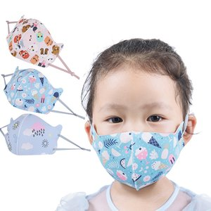 Children's ice silk printed designer face mask dust-proof face mask personalized parody cross-border breathable face masks free shipping