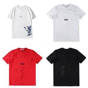 Europe Paris New Fashion Clothing Men Funny Cool 3D Letter Print American Flag Skull T-Shirts Tops Tees Plus Size Casual Tshirt Fz0870 #QA659