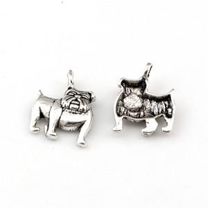 Encantos del dogo lindo colgantes 150pcs / lot 13x17mm la moda de joyería de plata antigua DIY caben las pulseras pendientes del collar A-225