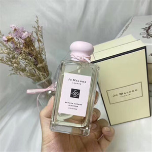 Promoción A +++ calidad Jo Malone London perfume 100ML Inglés pera SAKURA alegre Wild Bluebell Colonia perfumes fragancias para hombres mujeres