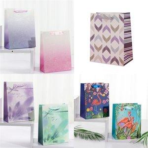 Sac créatif Jolie Flamingo Fleur Imprimé cadeau Good Looking papier sacs refermables shopping Sacs à main bon emballage 1 8mh E2