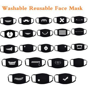 Adultos Boca máscara facial Máscara Escudo Anime Cartoon Face Máscara Anti Poeira Boca-Muffle lavável reutilizável máscaras contra poeira bonito da festa Unisex