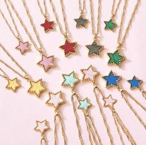Femmes Mode Pendentif Collier 2020 New Charm Couleur bonbons Acetic plaque acide étoile Multilayer Clavicule Sautoirs Colliers Bijoux Cadeau 2020 Nouveau