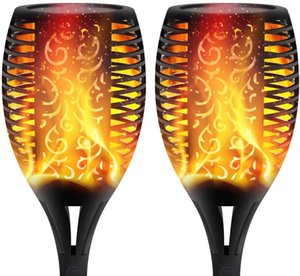 Landscape Solar Torch Lights Outdoor Solar Flame Lights Decoration Lighting Dusk to Dawn Auto On Off Security Light for Deck Yard Driveway