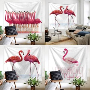 Square Tapestry Wall Hanging Superfine Fiber Yoga Mat Flamingo Printing Beach Towel New Arrive 20ma C R