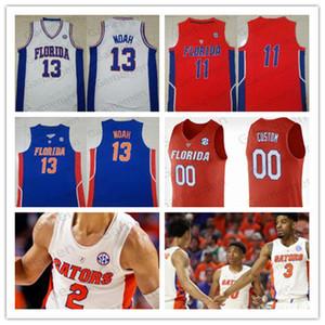 Пользовательской Флорида Аллигаторы Статистика Баскетбол сшитого Джерси NCAA College любого число имени Keyontae Джонсон Noah Локк мужских женщины молодежь