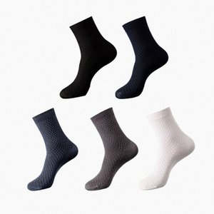 Mode Bamboo Finer Chaussettes Homme longues Crew Socks Business Casual Happy Man Respirant Calcetines Meias qpEZ #