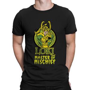 Loki Master Of camisetas Malícia 100% Cott @ Mens Em Homme Hiphop Top t-shirt impressão Moda Verão frete grátis Anlarach
