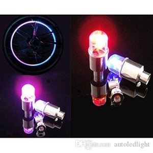 Aydınlatma LED Valfi yanıp sönen Bisiklet Bisiklet Bisiklet Motosiklet DRL Otomobil için LED Tekerlek Işık Fener Lastik Vana Lamba Caps