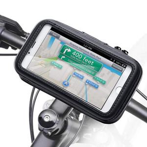 Bicicleta Phone Holder Bicicleta Motocicleta Mobile Phone Caso Scooter Waterproof Shell rotação de 360 graus aperto suporte do telefone de bicicleta