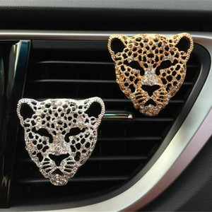 Universal Leopard Head Modeling voiture décoratifs Parfum Climatisation auto Air Fresher odeur Enlèvement Aroma iZWC #