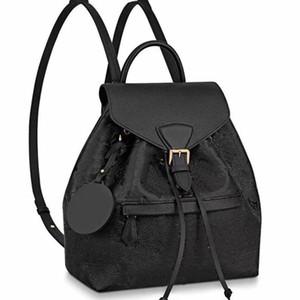 Rucksack Schultaschen Schultertaschen Abnehmbare Schultergurt Rindsleder Echtes Leder Modebrief Muster String Schwarz Hohe Qualität