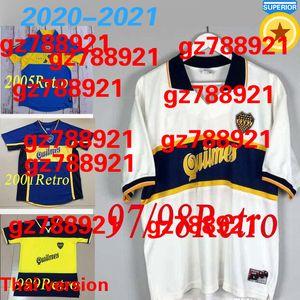 97 98 Boca Juniors Retro Soccer Jersey Maradona ROMAN Caniggia 1997 96 2002 03 PALERMO Football Shirts Maillot Camiseta de Futbol 2005 2001