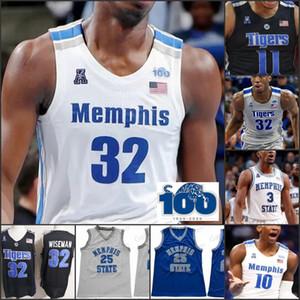 2020MPHIS NCAA Basketball Custom Nom Nom Nom Jersey Derrick Rose Précieux Achiuwa James Wiseman Evin Evin Olds Jayen Hardaway