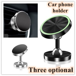 Universal Magnetic Luminous Car Phone Holder Air Vent Mount Metal Alloy Magnet GPS Stand in Car Wholesale For IPhone Samsung Xiaomi Huawei