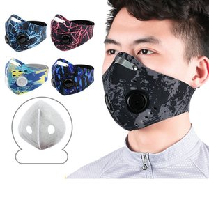 14styles Cycling Face Mask Sport Outdoor Training Masks PM2.5 Anti-dust Windproof Mouth Cover Carbon Filter Washable Mask GGA3567-7