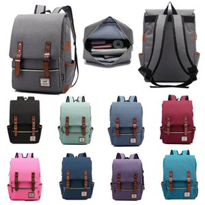 Vintage Laptop Backpack for Women Men School College Racksack Fits 15 inch Notebook Computer Bags Knapsack Shoulderbag Bookbag Satchel