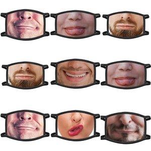 Con Cara Cara Coverreusable boca por Coverfun Dos Imprimir transpirable Filterhalf polvo reemplazable cara impermeable 3d Patrón Pañuelos NMcgj