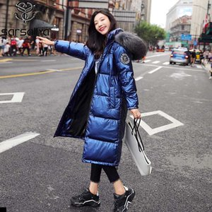 Winter Down Coat Women Real Fur Long Jackets Female Warm Thick Parkas Ladies With Hood Fashion Luxury Woman Clothes 2020 New