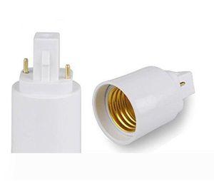 2 pins or 4 pins G24 male to E27 female G24d G24q to E26 E27 light bulb base holder converter adapter