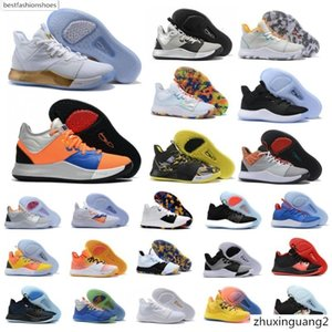 2020 New Paul George PG 3 3S PALMDALE III P.GEORGE Basketball Shoes Cheap PG3 Starry Blue Orange Red Black Sports Sneakers Size 40-46