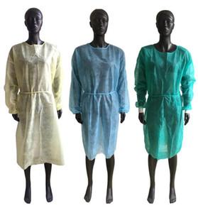 Нетканые Защитные Одноразовая одежда платья Одежда Костюмы пылезащитные Открытый Protect одежда одноразовая Плащи для взрослых фартуки FFA4412
