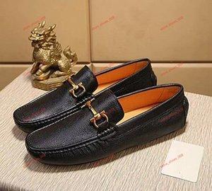 Louis Vuitton LV dos homens de design da marca formal de deslizamento-em sapatas de escritório terno plana negócios Doug mocassins de condução de couro sapatos de casamento formal