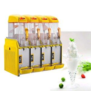 Neve macchina di fusione elettrico 220V Quattro cylind Slush Macchine Cold Drink Smoothies maker macchina per il ghiaccio Sabbia in vendita