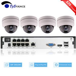 4CH 5MP PoE PTZ نظام كيت H.265 CCTV الأمن 8CH NVR داخلي للماء 2.8-12mm 4x بصري زوم IP كاميرا مراقبة الفيديو