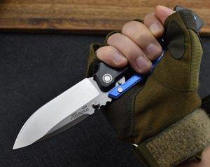 Top qualité de survie AD-15 Cold Steel OEM tactique couteau pliant M390 point de chute satin lame en fibre de carbone + T6061 poignée en aluminium