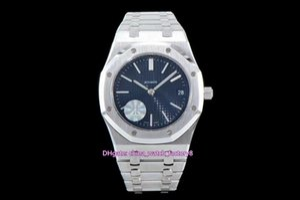 NUEVO mejor versión JF fabricante Azul 39mm 15202 Royal Oak Offshore jumbo extra-delgada de platino Cal.2121 del reloj para hombre relojes de las mujeres movimiento automático