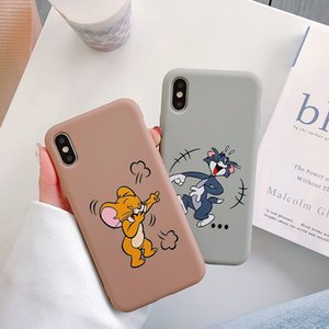 Cute Cartoon Cat mouse soft Phone Case For iPhone 6 6S 7 8 Plus X XS MAX XR 11 Pro Max lovely anime Frosted Cover fundas Capa