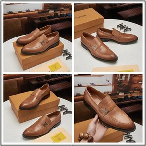2020 New Luxury Men Dress Business Shoes Designer Floral Handmade Leather Slip on Wedding Party Flats Shoes Pointed Toe Dress