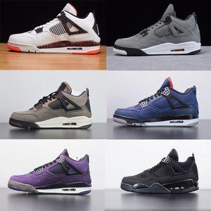 2020 scarpe da basket FIBA 4s Cool Grey scarpe di alta qualità di sport del cuoio genuino Loyal azzurro Citron Uomini Donne Sneakers Mesh stilista di scarpe