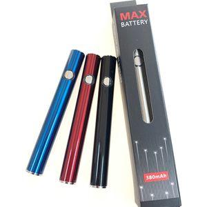 Hot Selling Amigo Max Preheat Battery 380mAh Variable Voltage Bottom Charge 510 Vape Pen Battery for Amigo Liberty Vaporizer Pen Cartridges
