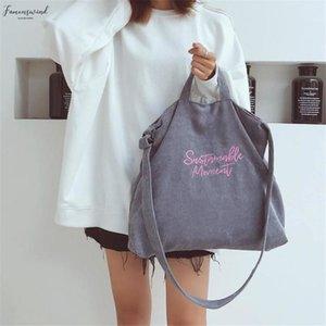 Women Corduroy Canvas Tote Ladies Casual Shoulder Bag Shopping Shopper Hand Bags For Female Messenger Korean Fashion Handbag Bag