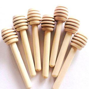 8cm Mini Wooden Honey Stick Honey Dippers Party Supply Spoon Stick Honey Jar Stick High Quality