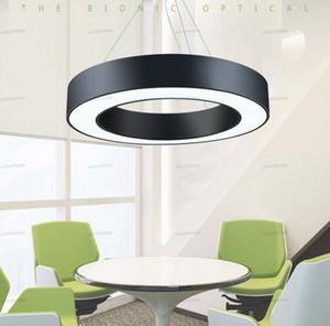 Minimalismo Annulus condotto le luci a sospensione moderne sospensioni appesi lampadario Ufficio Illuminazione opaco metallo rotonda goccia apparecchi di illuminazione