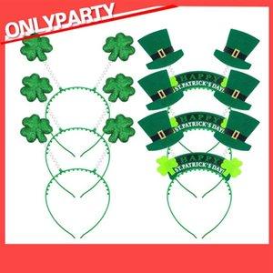 İrlanda St Patrick Günü Kafa Yeşil Cüce Shamrock Toka Fantezi Elbise Karnaval Noel aksesuarları parti şapkalar lehine hairband