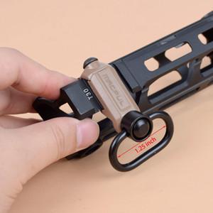 Tactical QD dell'imbracatura della guida di aggancio rapido Stacca Sling Swivel Buckle 20 millimetri Pistole ferroviaria per Tactical MS2 MS3 MS4 Sling