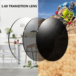 HQ Accustomized Transition Photochromie Harzlinse UV400 für Prescription Sonnenbrille Leichtgewicht 1.6index braun grau Farbe Freie Höhe