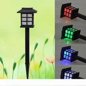 LED Solar Garden Light Cottage Style With Waterproof Outdoor Garden Lawn Landscape Decoration Solar Lamp Warm White RGB